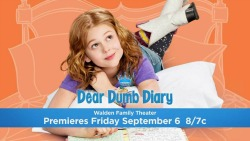 The hallmark channel movie dear dumb diary will debut on september 6