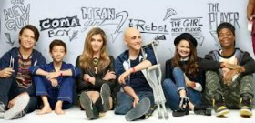 Red Band Society Kids (Left to Right: Nolan, Griffin, Zoe, Charlie, Ciara and Astro)