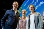 Mark Gatiss, Amanda Abbington and Benedict Cumberbatch