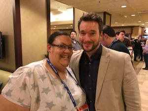 Roz and actor Gareth David-Lloyd, who played Ianto in Torchwood